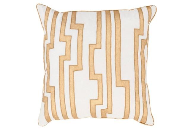 Accent Pillow-Avion Geo Ivory/Gold 18X18 - 360