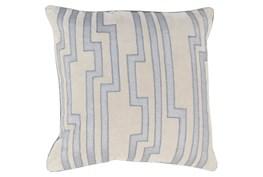 Accent Pillow-Avion Geo Light Grey/Blue 18X18