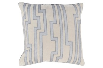 Accent Pillow-Avion Geo Light Grey/Blue 18X18