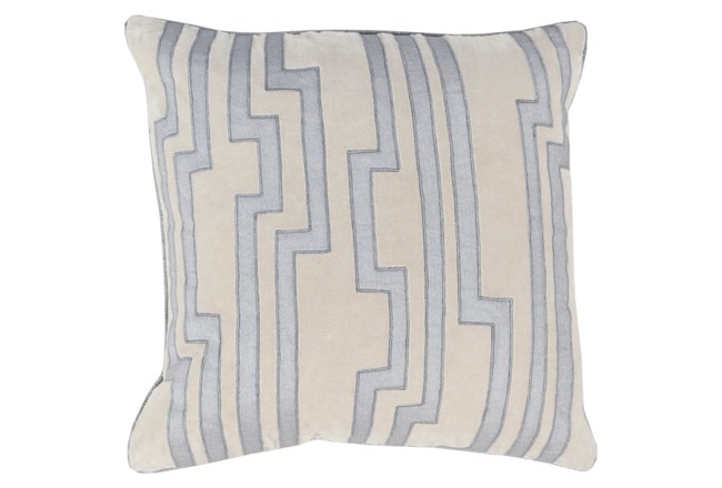 Accent Pillow-Avion Geo Light Grey/Blue 18X18 - 360