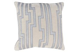 Accent Pillow-Avion Geo Light Grey/Blue 20X20