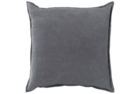 Accent Pillow-Beckley Solid Charcoal 18X18