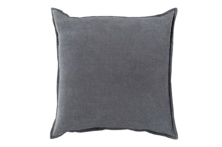 Accent Pillow-Beckley Solid Charcoal 22X22 - Main