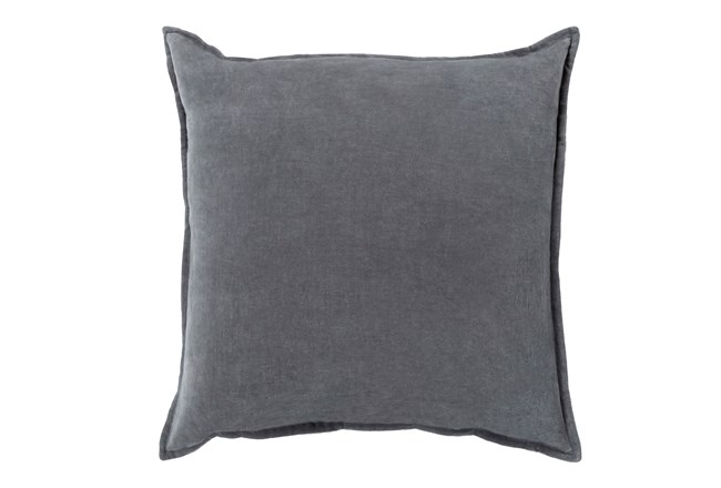 Accent Pillow-Beckley Solid Charcoal 22X22 - 360