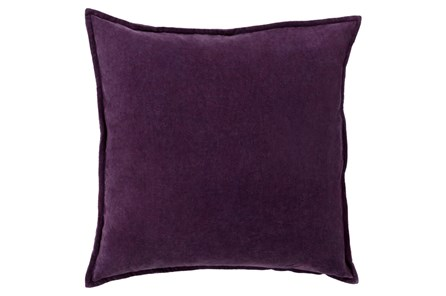 Accent Pillow-Beckley Solid Eggplant 18X18 - Main