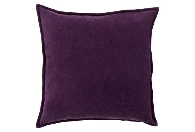 Accent Pillow-Beckley Solid Eggplant 18X18 - 360