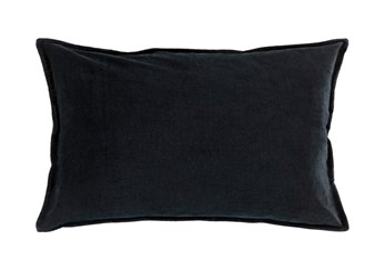 Accent Pillow-Beckley Solid Charcoal 13X20
