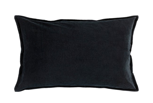 Accent Pillow-Beckley Solid Charcoal 13X20 - 360
