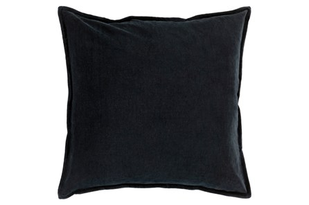 Accent Pillow-Beckley Solid Charcoal 18X18 - Main