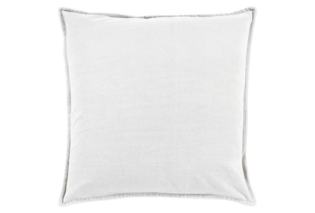 Accent Pillow-Beckley Solid Light Grey 18X18 - 360