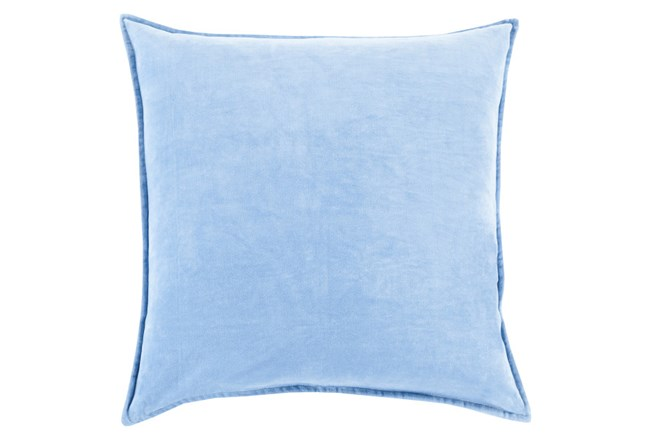 Accent Pillow-Beckley Solid Sky Blue 18X18 - 360