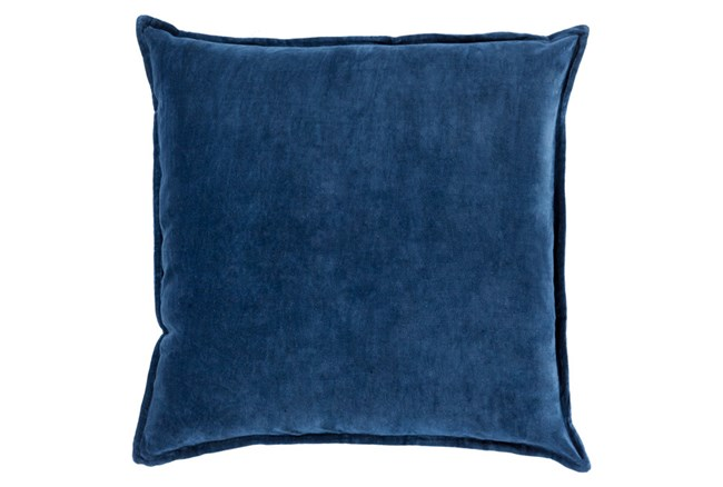 Accent Pillow-Beckley Solid Navy 18X18 - 360