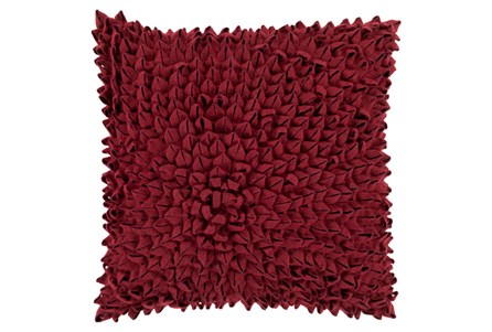Accent Pillow-Daisy Burgundy 20X20