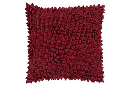 Accent Pillow-Daisy Burgundy 20X20 - Main