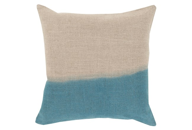 Accent Pillow-Half Dyed Teal 18X18 - 360