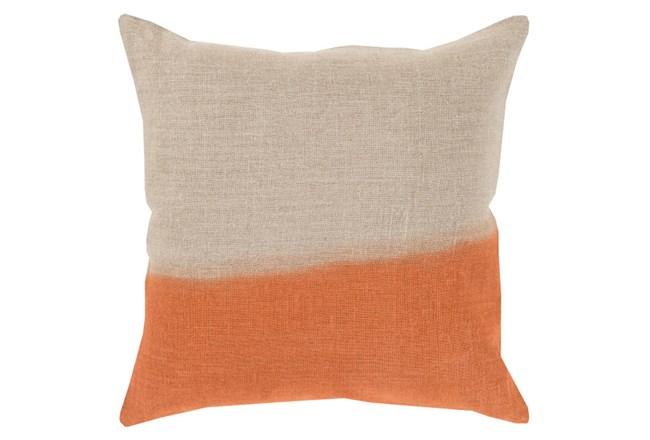 Accent Pillow-Half Dyed Orange 18X18 - 360