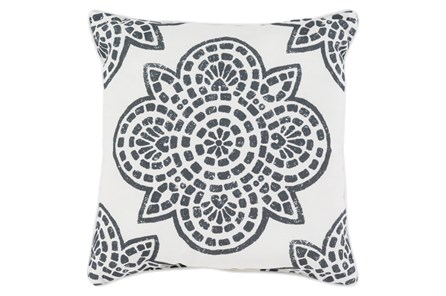 Accent Pillow-Mendi Black 20X20