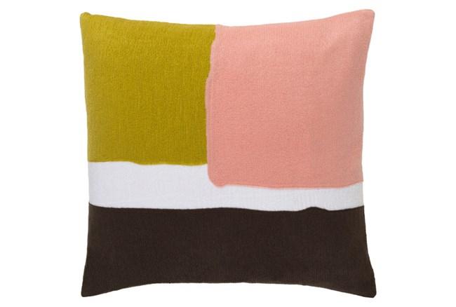 Accent Pillow-Stevens Salmon  Multi 18X18 - 360