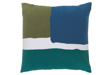 Accent Pillow-Stevens Blue Multi 18X18