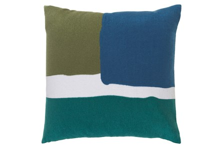 Accent Pillow-Stevens Blue Multi 20X20 - Main