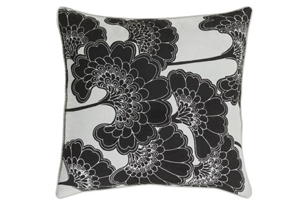 Accent Pillow-Kyoto Black 20X20