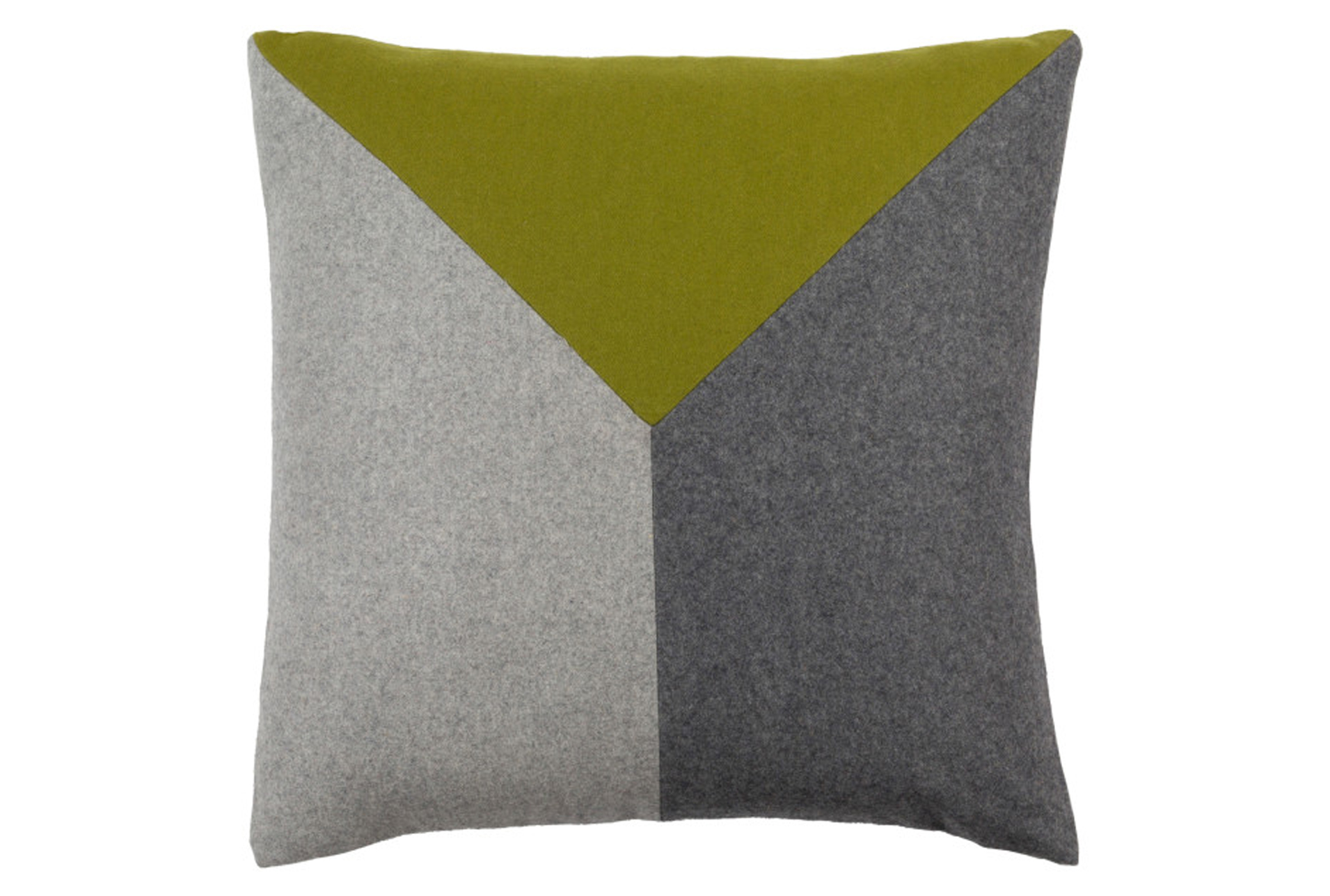 Accent Pillow Ricci Grey Lime 18x18 Living Spaces