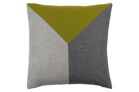 Accent Pillow-Ricci Grey/Lime 18X18