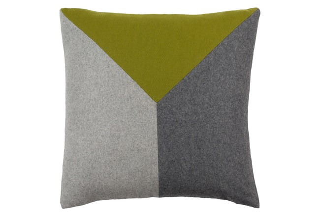 Accent Pillow-Ricci Grey/Lime 18X18 - 360