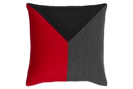 Accent Pillow-Ricci Red/Grey/Black 18X18