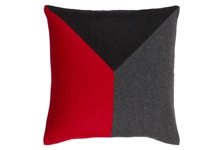 Accent Pillow-Ricci Red/Grey/Black 18X18 - Main