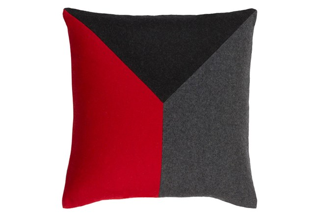 Accent Pillow-Ricci Red/Grey/Black 18X18 - 360