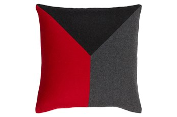 Accent Pillow-Ricci Red/Grey/Black 20X20
