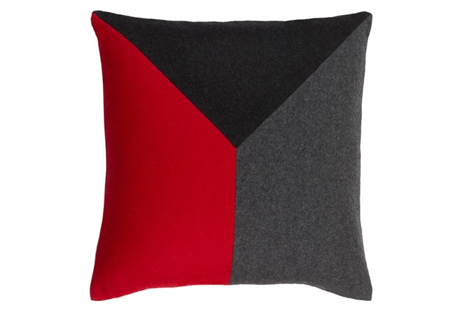 Accent Pillow-Ricci Red/Grey/Black 20X20 - 360