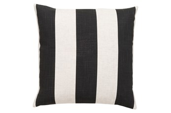 Accent Pillow-Maisie Black/White Stripe 18X18