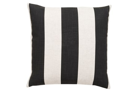 Accent Pillow-Maisie Black/White Stripe 18X18 - Main