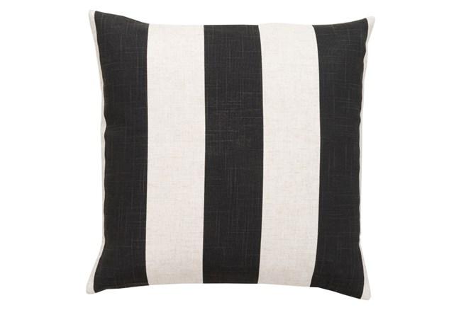 Accent Pillow-Maisie Black/White Stripe 18X18 - 360