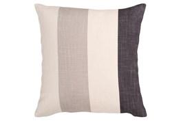 Accent Pillow-Maisie Black/Grey Stripe 18X18