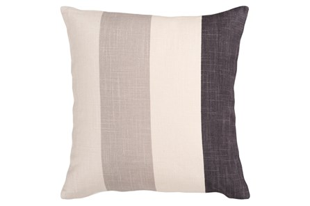Accent Pillow-Maisie Black/Grey Stripe 18X18 - Main
