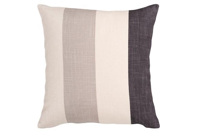 Accent Pillow-Maisie Black/Grey Stripe 18X18 - 360