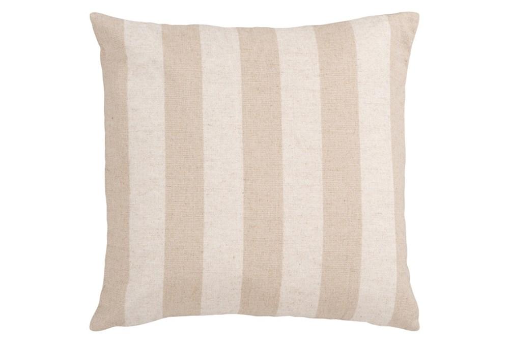Accent Pillow-Maisie Beige/Cream Stripe 18X18