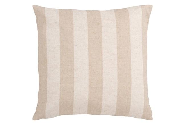 Accent Pillow-Maisie Beige/Cream Stripe 18X18 - 360