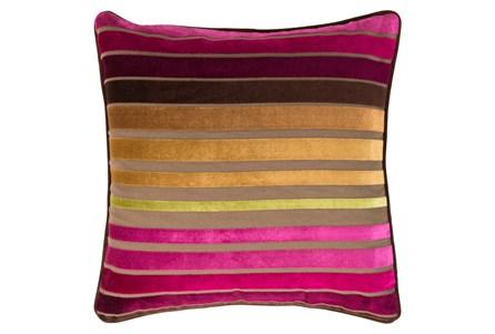 Accent Pillow-Riley Velvetmagenta Multi Stripe 18X18