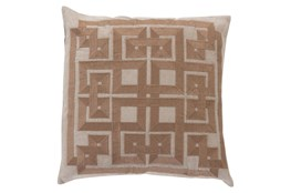 Accent Pillow-Trina Beige/Brown 20X20
