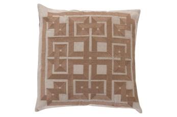 Accent Pillow-Trina Beige/Brown 20X20