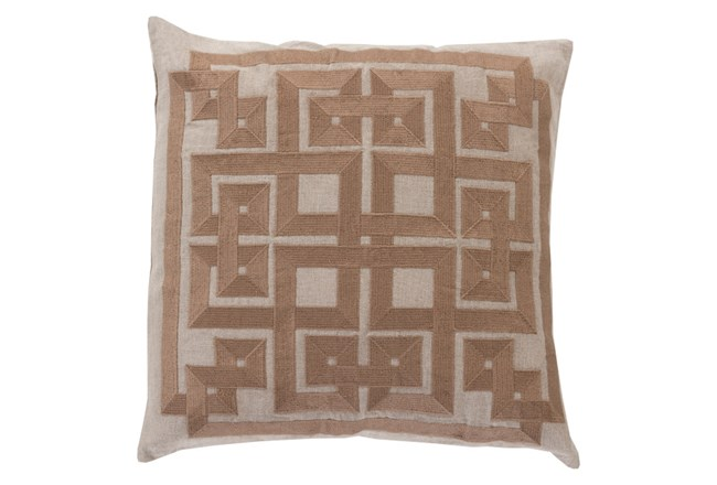 Accent Pillow-Trina Beige/Brown 20X20 - 360