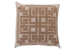 Accent Pillow-Trina Beige/Brown 22X22