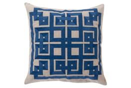 Accent Pillow-Trina Beige/Navy 22X22