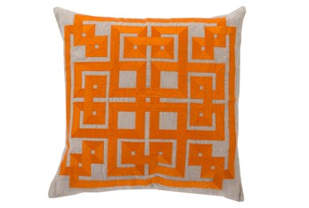 Accent Pillow-Trina Beige/Orange 20X20