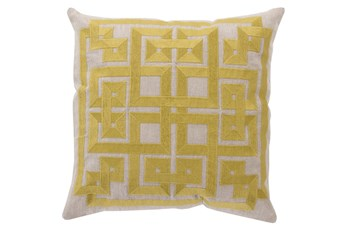 Accent Pillow-Trina Beige/Lime 20X20