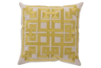 Accent Pillow-Trina Beige/Lime 20X20
